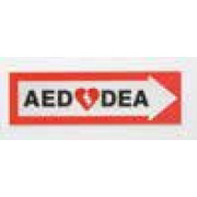 AED Directional Sign ( Left  arrow)