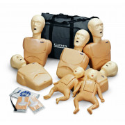 CPR Prompt, Training Kit, w/2 Infant & 5 Adult/Child Manikins- Tan color.